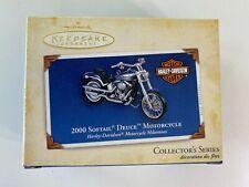Hallmark Keepsake Ornament / 2000 Harley Davidson Softtail Deuce Motorcycle