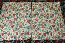 Set of 2 Ralph Lauren Pillow Shams Quilted Floral  Standard Size