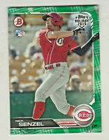 2019 Topps Bowman Holiday GREEN SWEATER #TH-NS NICK SENZEL RC Rookie 18/99 Reds