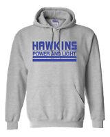 Hawkins Power and Light Stranger Things Unisex Hoodie Hooded Sweatshirt 1731