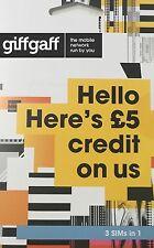 16x PAYG giffgaff SIM Cards - Retail Packs : Bulk joblot