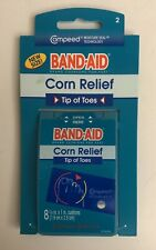 (1) Band Aid Corn Relief Tip Of Toes Compeed Moisture Technology 8 Cushions Pack