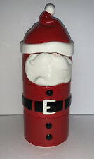 Department 56 Time To Celebrate 5 Pc Stackable Winking Santa Dish W Knife Euc