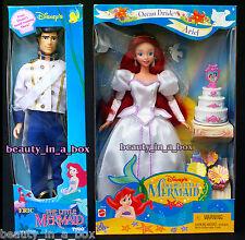 Ariel Ocean Bride Doll Eric Groom Wedding Little Mermaid Tyco Disney