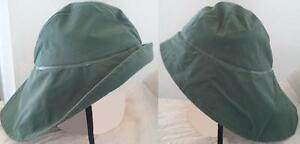 Regenhut Südwester Regenmütze Sturmkapuze Grün Regen Hut Mütze