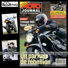 MOTO JOURNAL N°1110 HELMUTH FATH TRIUMPH SPEED TRIPLE 900 DUCATI 600 MOSTRO 1993