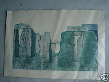 BIG Vintage Stonhenge Print SIGNED NOA 82 LOOK