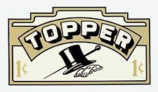 TOPPER ( HAT AND CANE ) 1 CENT, VENDING, COINOP, WATER SLIDE DECAL # DV 1012