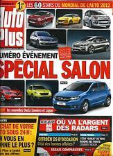 AUTO PLUS N°1254 17 SEPTEMBRE 2012  SPECIAL SALON MONDIAL AUTOMOBILE