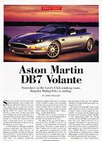 1996 Aston Martin DB7 Volante - Road Test - Classic Article A21-B