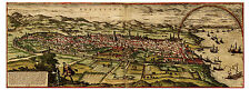 Barcelona Catalonia Aragon Spain bird's-eye view map Braun Hogenberg ca.1572