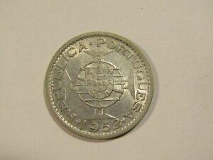 Portuguese Guinea 1952 20 Escudos Silver Coin