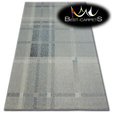 """THICK AND DENSELY WOVEN ACRYLIC, WOOL RUGS """"PATARA"""" Lines cream turquise CARPETS"""