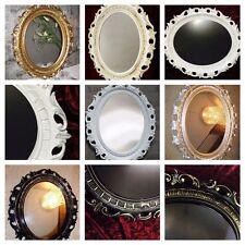 Bilderrahmen Oval Silber Hochglanz Barock Groß Fotorahmen Antik 58x68 mit Glas