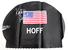Speedo Swimming Swim Cap Hat UV Protection Latex USA Flag Olympics Katie Hoff