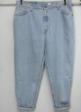 LEVI'S 950 WOMEN'S 22 SHORT HIGH WAISTED MOM BLUE JEANS RELAXED FIT TAPERED USA