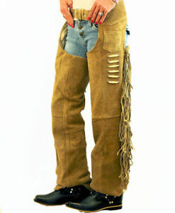 Ladies Brown Suede Leather Chaps