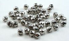 6mm Tiny Miniature Silver Jingle Bells Charms 100 Pieces