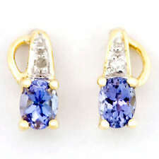 Handmade Tanzanite Fine Earrings Butterfly
