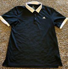 Adidas Golf Clothing Polo Shirt Size Medium Black White Ringer Womens EUC