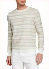 new Ermenegildo Zegna men sweater pullover cotton linen beige Italy sz 50 M