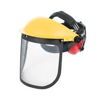 Silverline Forestry Hat Full Face Protection Mesh Visor & Ear Defenders SNR22dB
