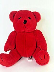 "Red Teddy Bear Plush stuffed animal Steven Smith Toy love valentine toy 9"""