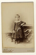 PORTRAIT OF MARGUERITE: FOUR YEAR-OLD POSES IN ALEDO, ILLINOIS (CABINET CARD)