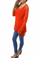 Viscose Long Sleeve Tunic Machine Washable Tops for Women