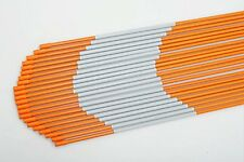 20x Driveway Markers Fiberglass Reflective Snow Stakes Orange 1/4''x3ft Hollow