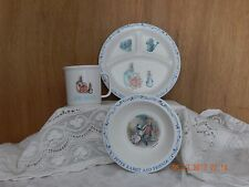 Vintage PETER RABBIT AND FRIENDS Plate & Bowl Cup is Matching Design