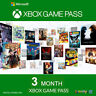 3 Month Xbox Game Pass Subscription Xbox One
