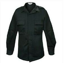 Elbeco Tactical Twill BDU Long Sleeve Black Shirt 09200 Military Police Security