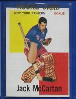 60-61 Topps**JACK McCARTAN**(RC)#39 (N-Y RANGERS) GREAT CONDITION! RARE!!
