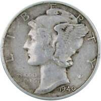 1940 10c Mercury Silver Dime US Coin XF EF Extremely Fine