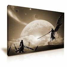 Final Fantasy 7 Sephiroth VS Cloud Stretched Canvas Wall Art 76x50cm