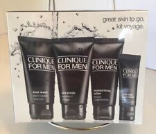 Brand New Sealed Clinique For Men Great Skin Travel 4 Pc Set Normal to Dry Skin