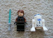 LEGO Star Wars Clone Wars - Anakin Skywalker w/ Lightsaber & R2-D2 - Excellent
