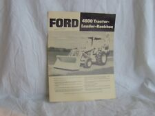 FORD 4500 TRACTOR LOADER BACKHOE SALES BROCHURE FLYER AD DETAILED FARM TRACTOR