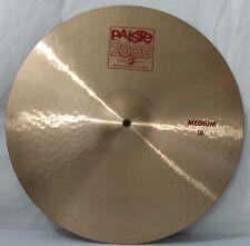 "Paiste 2002 Medium 18"" Crash Cymbal Switzerland Made Great Sound Free Ship US 48"