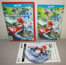 MARIO KART 8 Nintendo Wii U Racing Driving Game Day One 1st Printing Red Case
