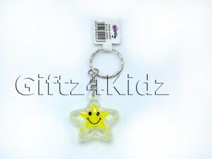 STAR SHAPES KEYRING Party Bag Filler Favour Cute Present Gift Kids Friends Toy