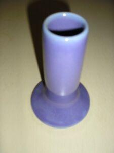 VINTAGE ART DECO STYLE  PLUM PURPLE STONEWARE VASE 12 cm High