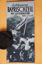 Reise Prospekt Luftkurort Bayrischzell mit Osterhofen, 1937