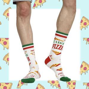 Men Pizza Slice Socks Gift Socks Novelty Socks Funny Socks Food Sock