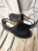 Women's SIMSON Orthopedisch Black Handmade Leather Clogs, Shoes 37 - Us 7