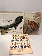Gnomes Poortvliet Lot 3 :Hb Living Forest Sc Gnomes Games+ 1979 Calendar