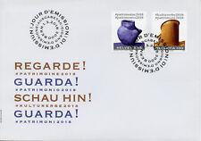 Switzerland 2018 FDC #CulturalHeritage2018 Cultural Heritage 2v Cover Art Stamps