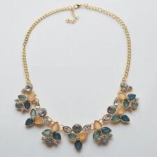 COLLANA DORATA FIORI VINTAGE FASHION -  Collier Vintage Maxi Necklace
