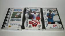 FIFA 97 & SEGA Worldwide Soccer & '97 Sega Saturn Complete CIB Games Lot - ALL 3
